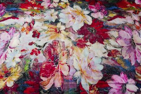 Штапель, принт, крупные цветы